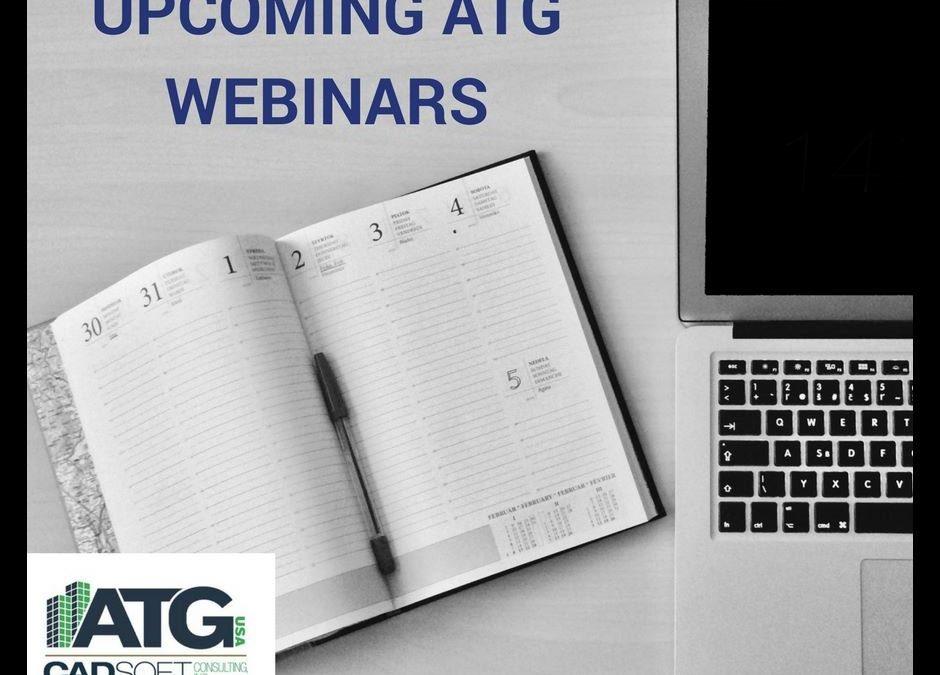 Upcoming ATG Webinars