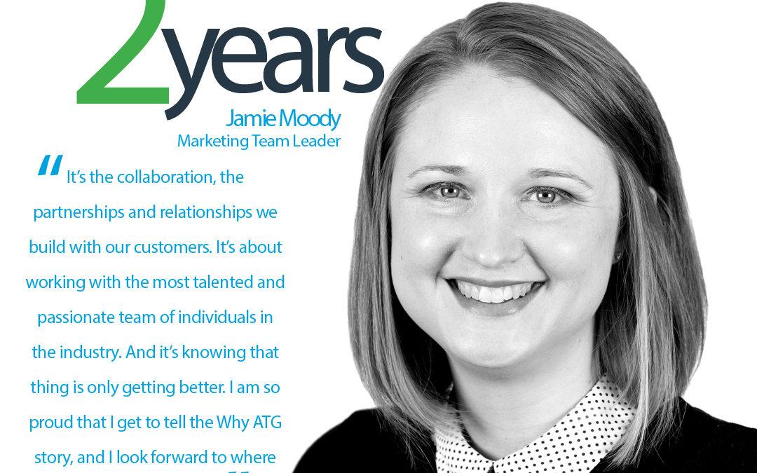 Happy ATG Anniversary to Jamie Moody, Marketing Team Leader