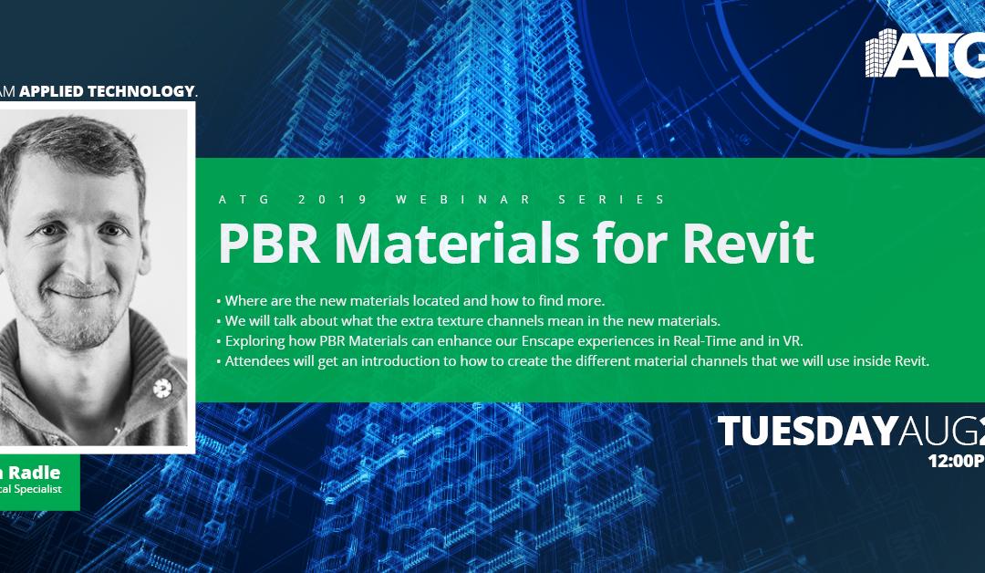 ATG Webinar: PBR Materials for Revit