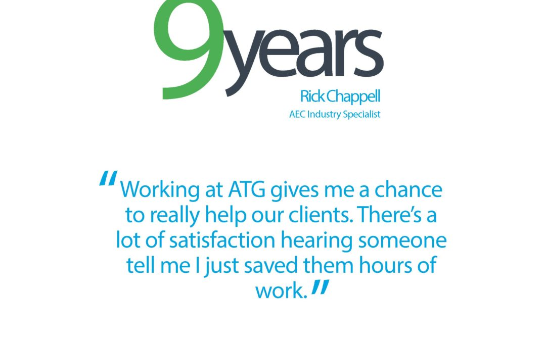 Happy ATG Anniversary to Rick Chappell, AEC Industry Specialist