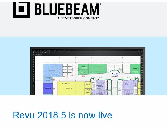 Bluebeam, Inc. Revu 2018.5 Is Now Live