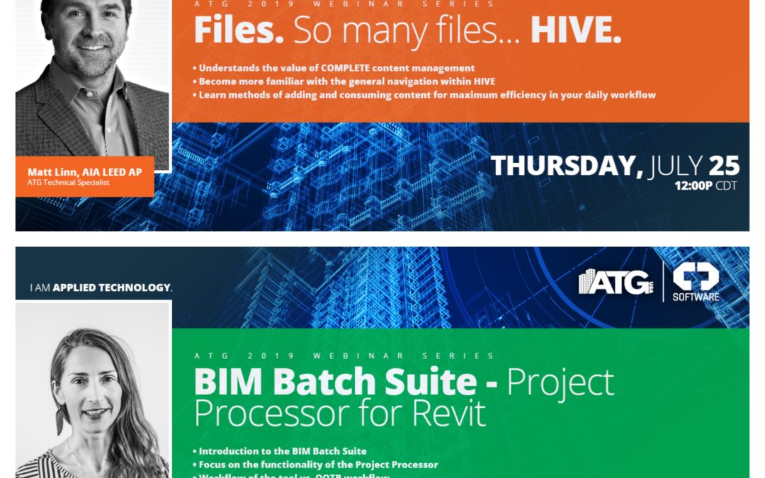 ATG Webinars: Files. So Many Files…HIVE & BIM Batch Suite- Project Processor for Revit