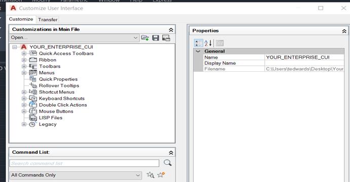 Blog: Using the AutoCAD Enterprise CUI