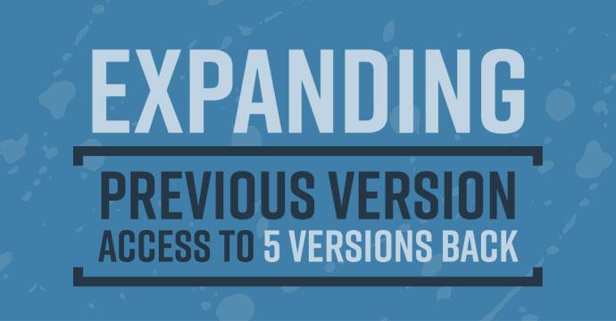 Expanding Previous Version Access blog image