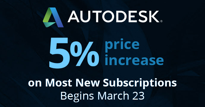 5% price increase on most new subscriptions begins March 23